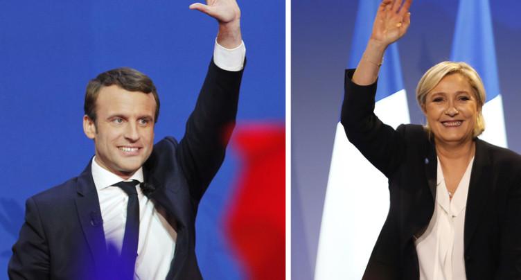 Macron en campagne dans des fiefs de Marine Le Pen