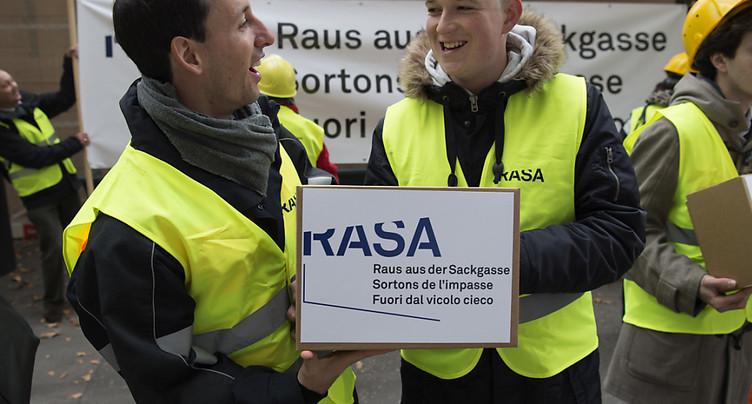 Le Conseil fédéral renonce à un contre-projet à l'initiative Rasa