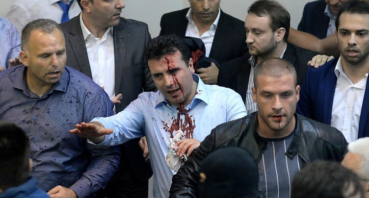 Heurts au Parlement de Skopje, dirigeant social-démocrate blessé