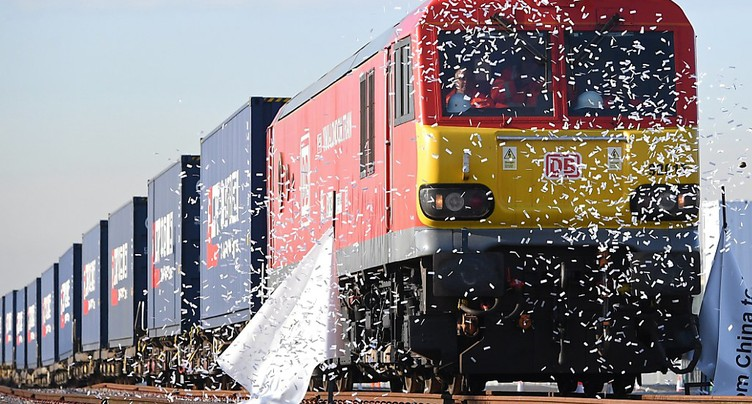 Le premier train direct de Londres est arrivé en Chine