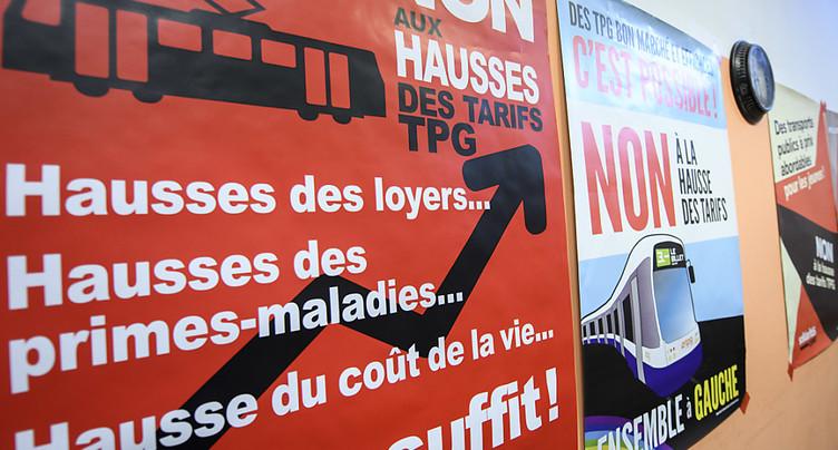 Les Genevois disent non à des tarifs TPG plus élevés