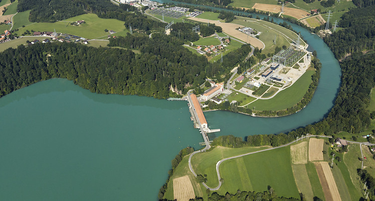 La température de l'Aar affecte la centrale nucléaire de Mühleberg