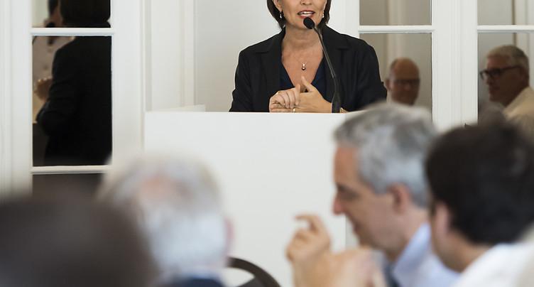 Doris Leuthard croit en la capacité des firmes suisses à s'adapter