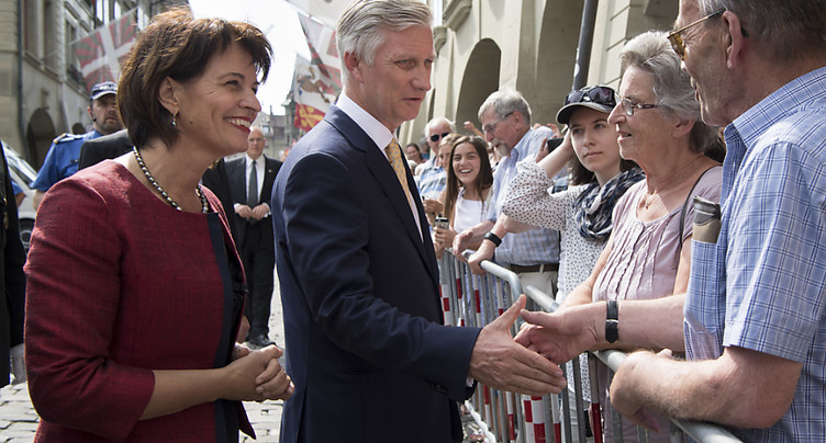 Le roi des Belges en visite officielle en Suisse