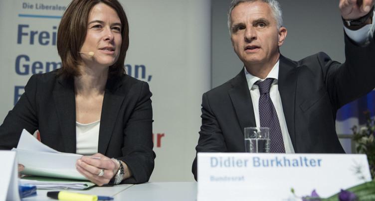 Remerciements du PLR à Didier Burkhalter pour son engagement