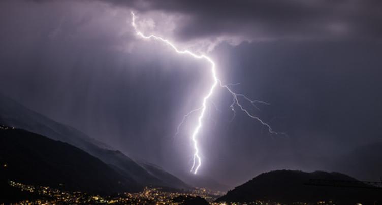 De fortes pluies mettent fin à la vague de chaleur au Tessin