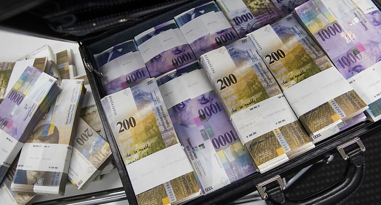 Excédent courant de la Suisse de 11 milliards au 1er trimestre