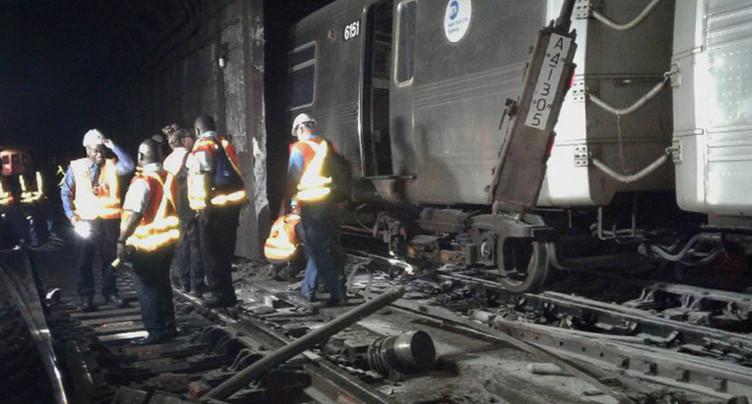 Déraillement dans le métro de New York: une trentaine de blessés