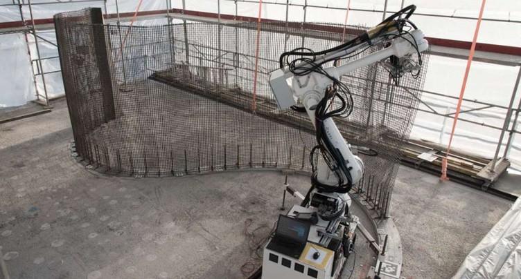 Première maison au monde construite par des robots à Dübendorf (ZH)