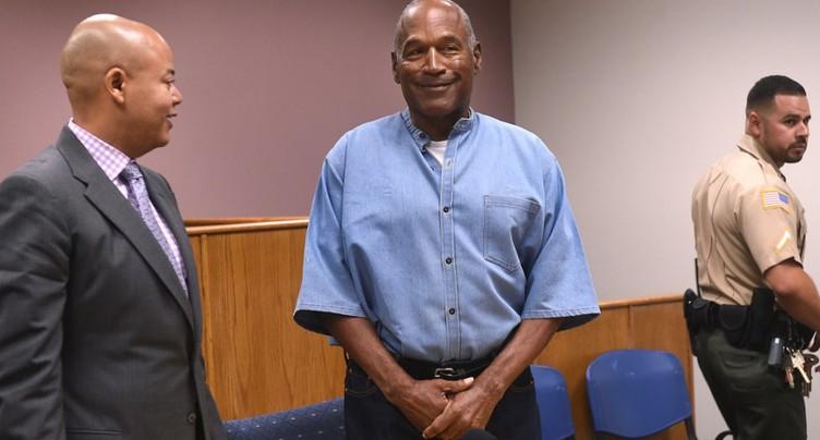 L'américain O.J. Simpson remis en liberté après 9 ans de prison