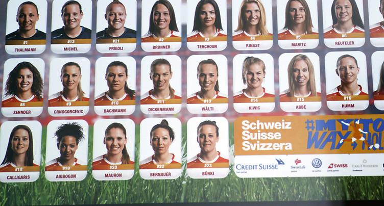 Les joueuses de l'équipe de Suisse ont aussi leurs vignettes