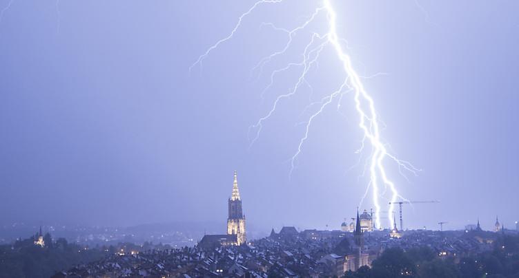 De forts orages balaient certaines régions suisses