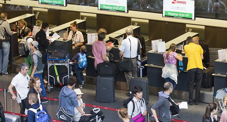 Record quotidien de passagers battu dimanche à Zurich