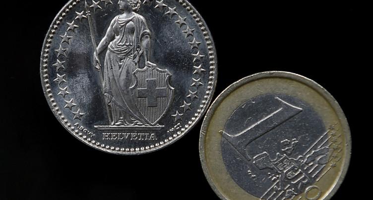 L'euro atteint son plus haut niveau contre le franc depuis 18 mois