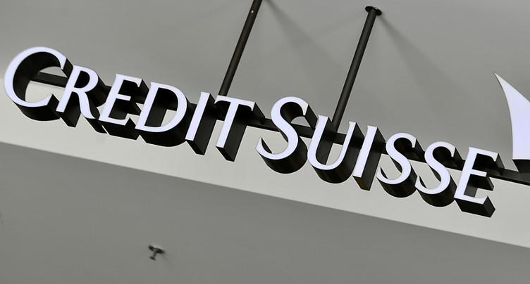 Credit Suisse voit son bénéfice bondir au deuxième trimestre