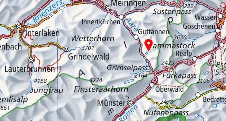 Six blessés dans un éboulement dans la région du Grimsel