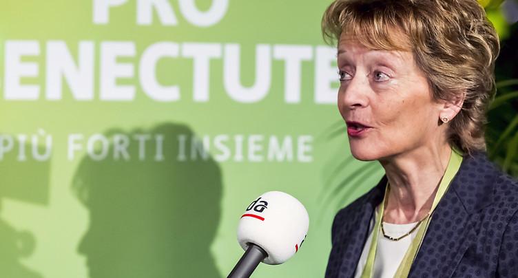 Eveline Widmer-Schlumpf soutient la Prévoyance vieillesse 2020