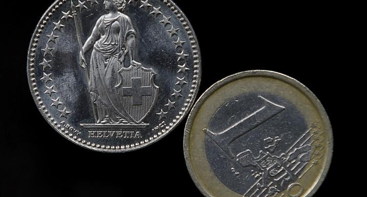 L'euro au plus haut depuis plus de deux ans face au franc