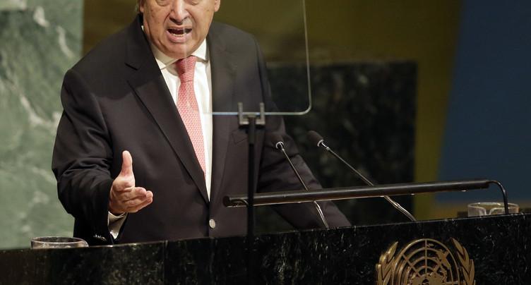 Le chef de l'ONU s'exprime devant la 72e Assemblée générale