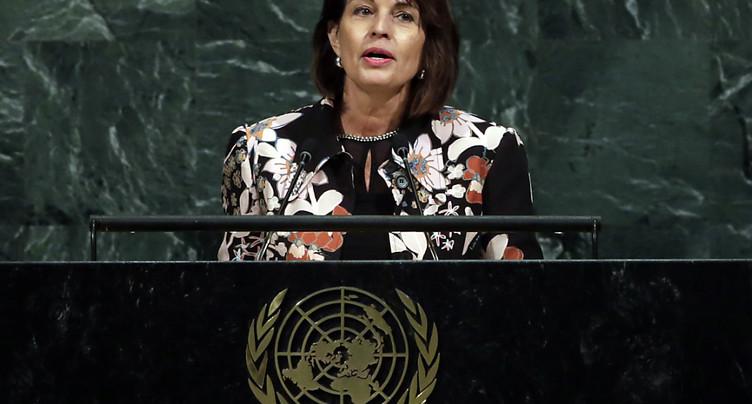 Doris Leuthard s'oppose à Donald Trump et défend l'ONU