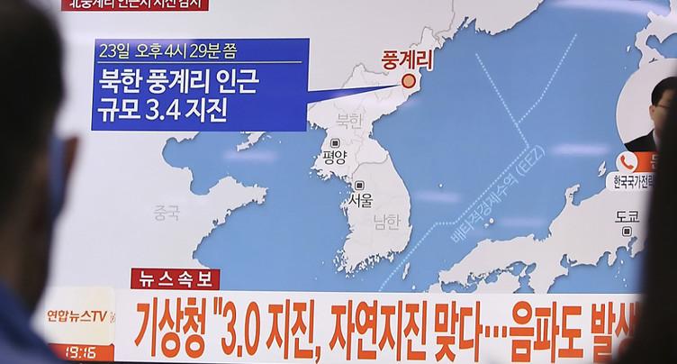 Deux secousses apparemment naturelles enregistrées en Corée du Nord