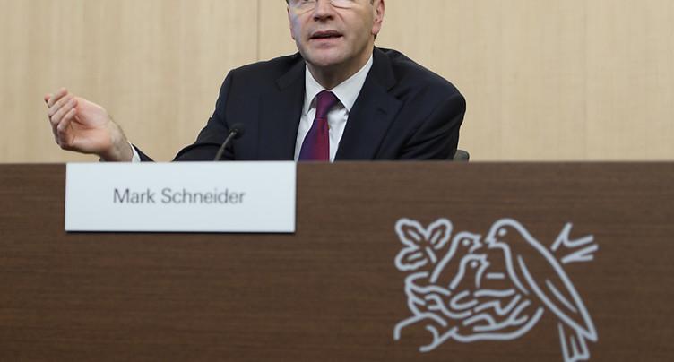 Nestlé sur neuf mois: recul des ventes due aux cessions