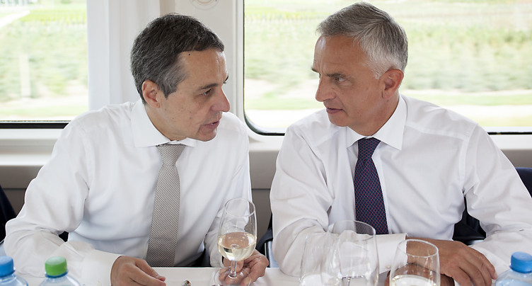 Le PLR fête Didier Burkhalter et Ignazio Cassis