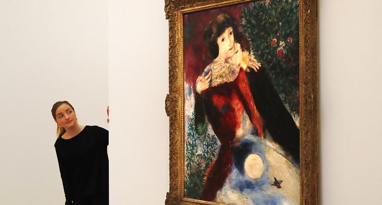Record pour un Chagall: 28,5 millions pour « Les Amoureux »