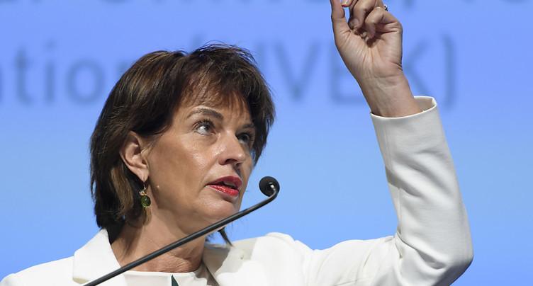 Doris Leuthard exige des résultats concrets à la Conférence de Bonn