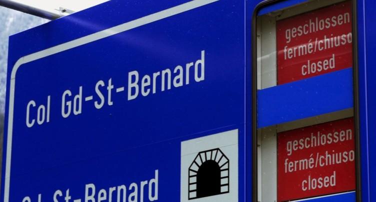 Le tunnel du Grand-St-Bernard devrait rouvrir le 15 janvier