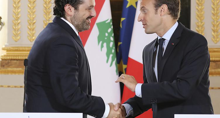 Le Premier ministre libanais démissionnaire Hariri arrivé à Paris
