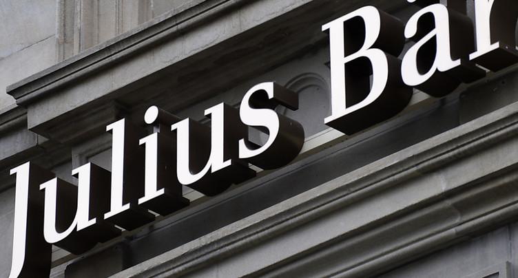Les fonds de Julius Baer ont atteint 393 milliards à fin octobre