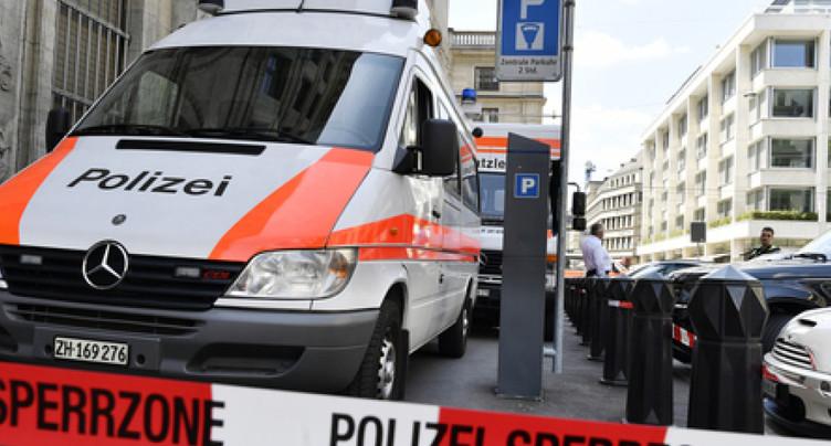 Evacuation du consulat des Etats-Unis à Zurich
