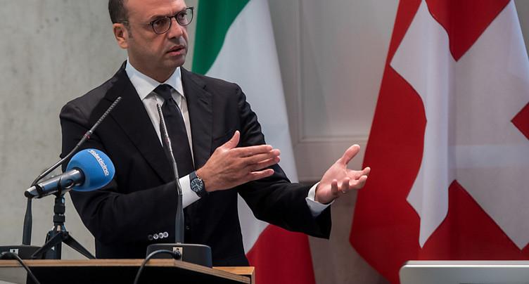 Ignazio Cassis à Rome pour sa première visite à l'étranger