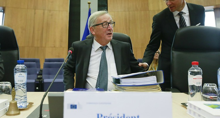 Visite du président de la Commission européenne Jean-Claude Juncker à Berne