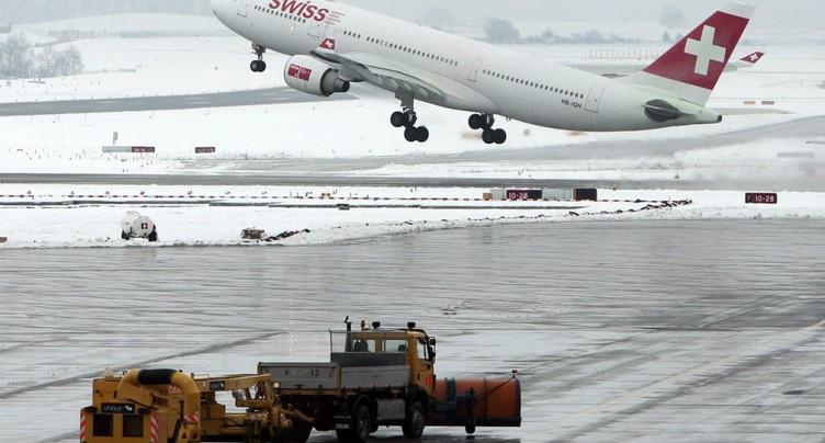 Nombreux vols annulés à l'aéroport de Zurich