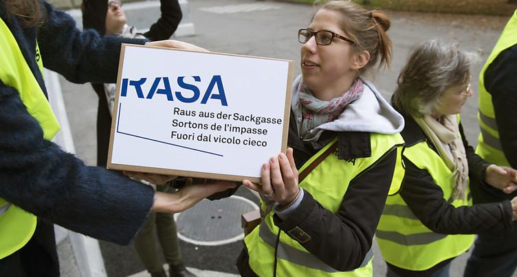 Le comité RASA retire son initiative