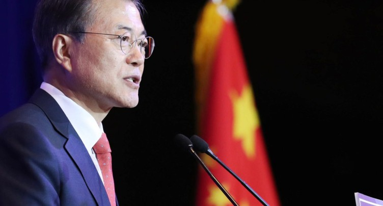 Le président sud-coréen vient sceller un rabibochage avec Pékin