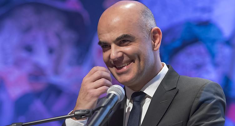 Le futur président Alain Berset en tournée dans son canton