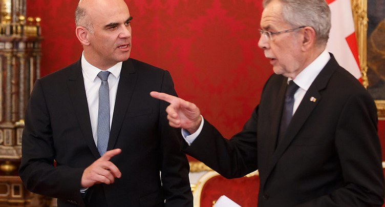 Bourse suisse: le président autrichien tend la main à Alain Berset
