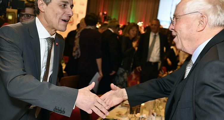 Ignazio Cassis et Christoph Blocher en décousent sur l'UE