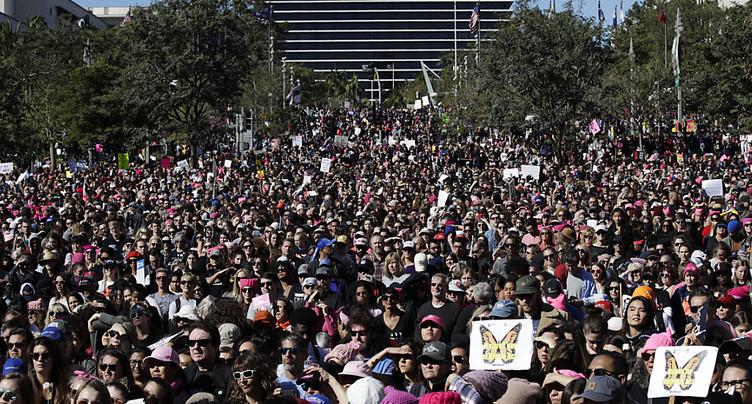 Près de 600'000 manifestants anti-Trump à Los Angeles