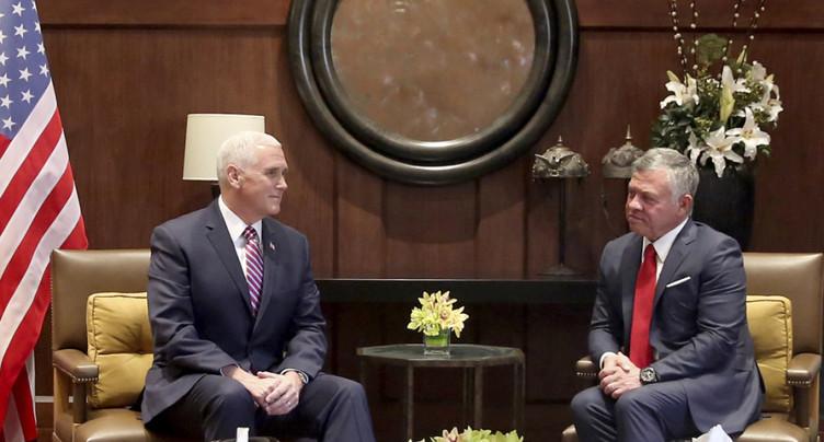Mick Pence évoque Jérusalem avec le roi Abdallah de Jordanie