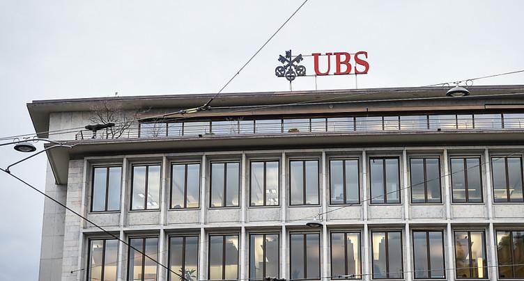 Bénéfice annuel de 1,16 milliard de francs pour UBS en 2017