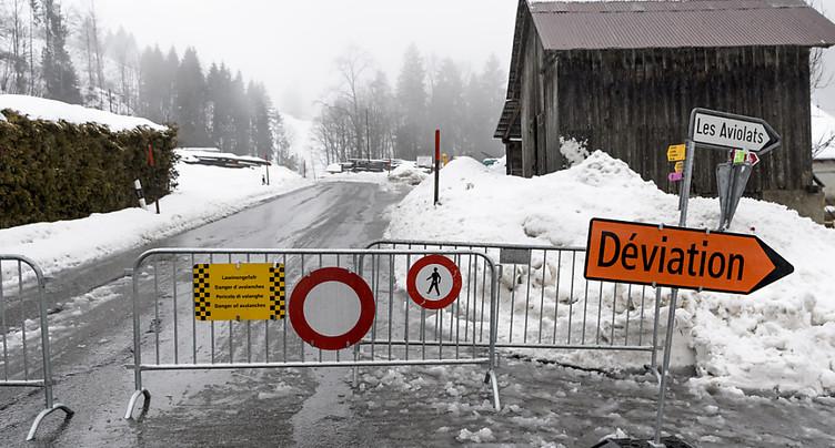 Préalpes vaudoises: des routes resteront fermées mardi
