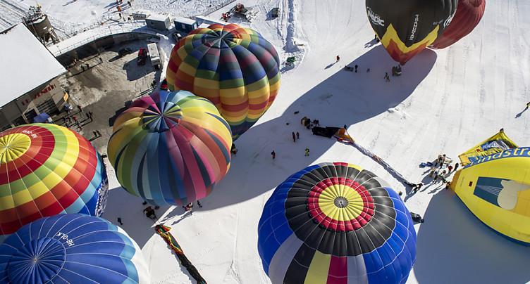 Coup d'envoi samedi du Festival de ballons de Château-d'Oex (VD)