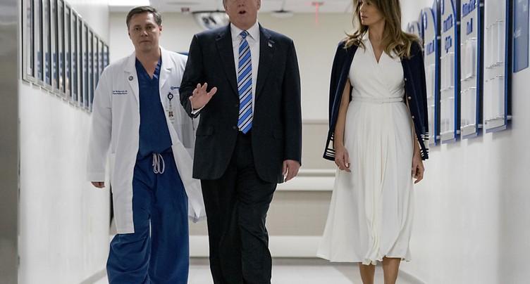 Tuerie en Floride: Trump à l'hôpital pour rencontrer des blessés