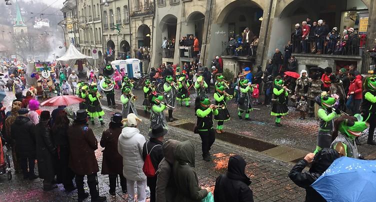 Carnaval sous la pluie à Berne