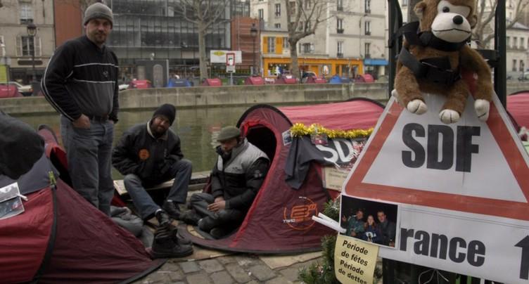 Près de 3000 sans-abris recencés à Paris