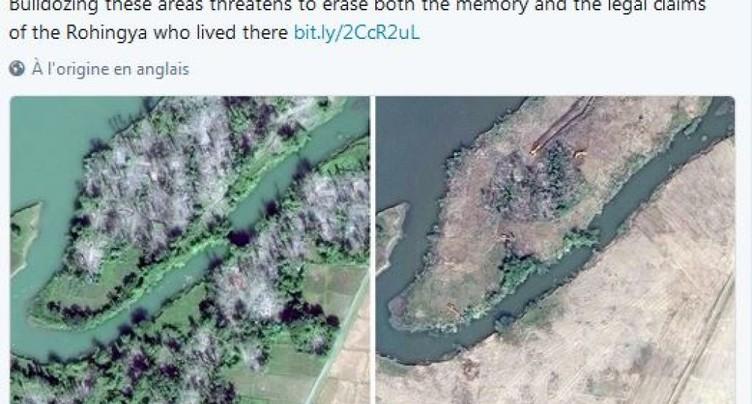 Les villages rohingyas rasés visibles sur images satellite
